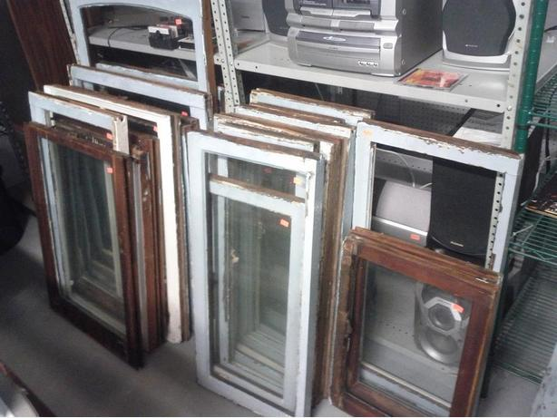 Vintage Wood Framed Windows