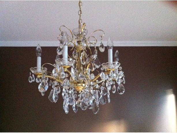 Brass Chandelier - Reduced $375