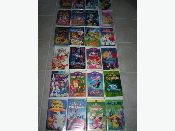24 French Childrens Vhs Movies