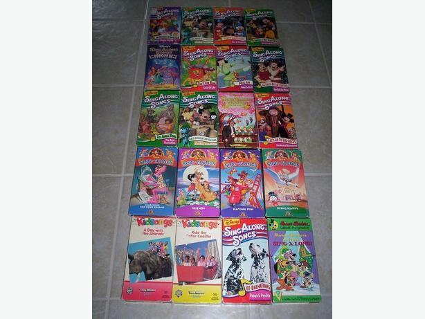 Kids VHS Sing A Long Films