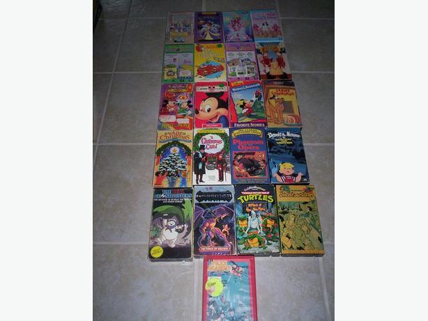 21 Assorted Kids VHS Films