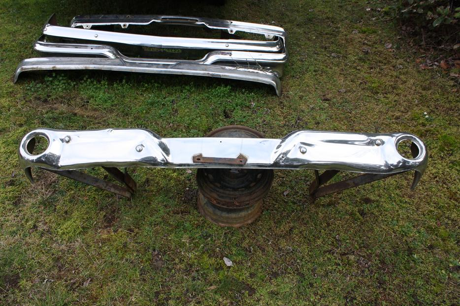 Various Older Ford Chrome Bumpers And Bumper Brackets West