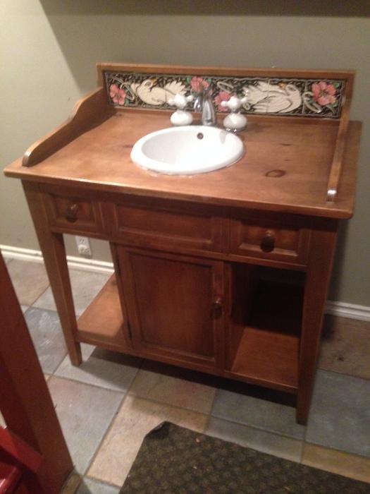 Antique Bathroom Vanity West Shore Langford Colwood