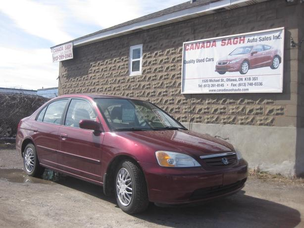 2003 honda civic lx auto power 144km 12m wrty safety for Honda civic safety