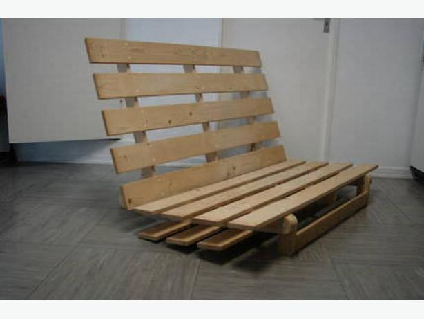 Free wooden ikea futon bed sofa frame no matress saanich for Wood futon frame ikea