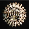 Vintage Menorah Brooch