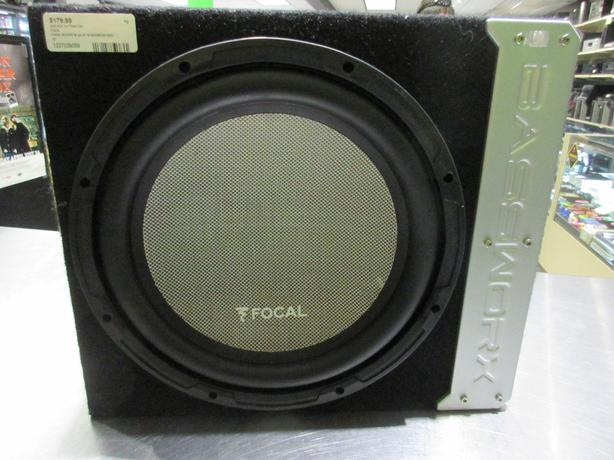"12"" FOCAL SUBWOOFER IN BASSWORX BOX**MONEYMAXX**"