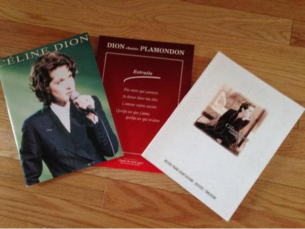 Lot of 3 Celine Dion Music books