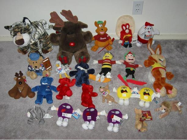 * Stuffies (NOW big/med ones $2, small ones $1 each)