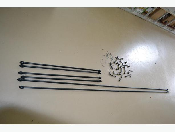 Black metal curtain poles