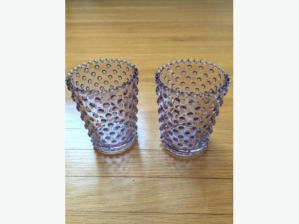 2 purple candle / votive holders