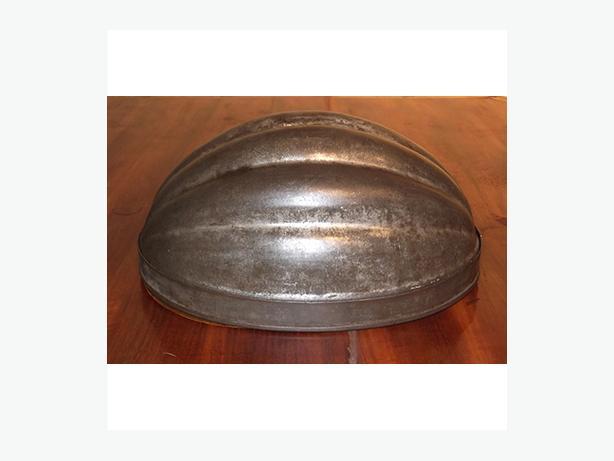 Antique Tin Melon-Shaped Mould