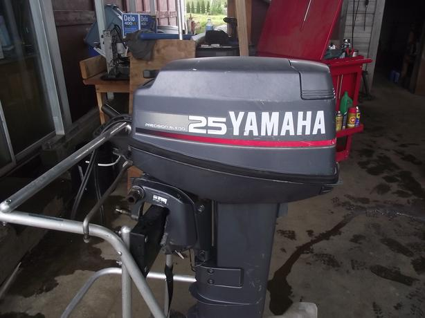 25 hp yamaha 2 stroke injected longshaft outboard outside