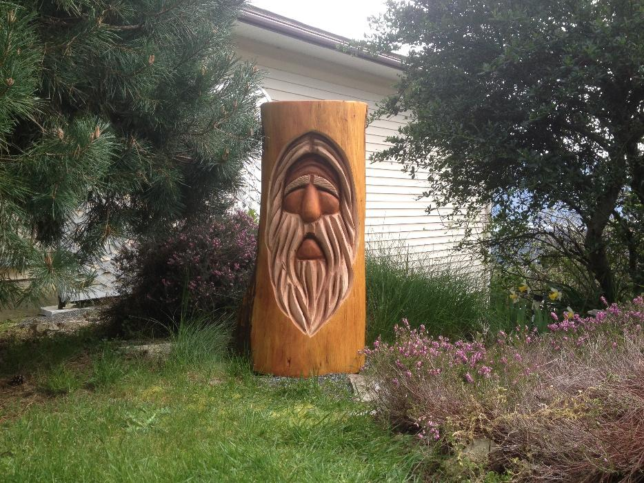 Chainsaw carvings blowout inventory sale outside