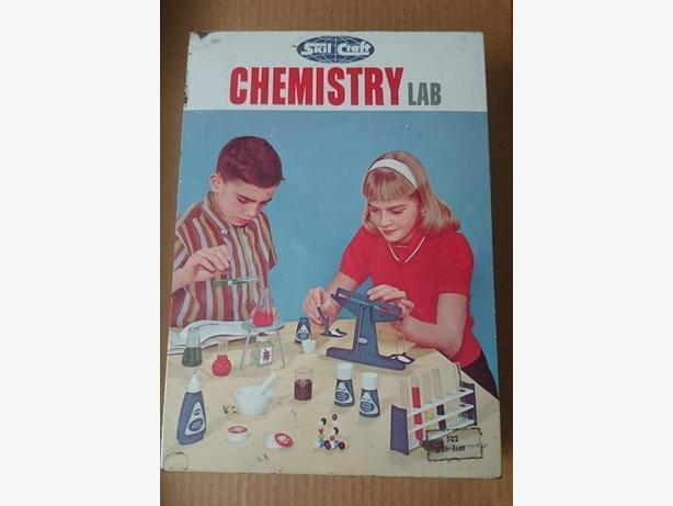 Empty 1960's Skil Craft Chemistry Lab metal box