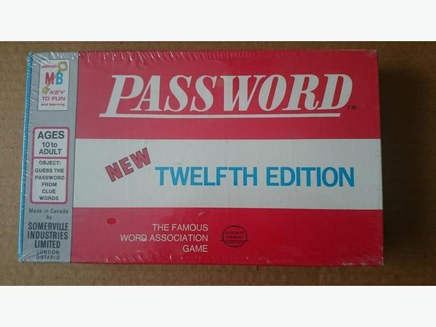 """Password"" game"