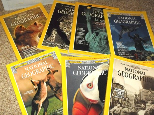 Grab these. . ..National Geographic