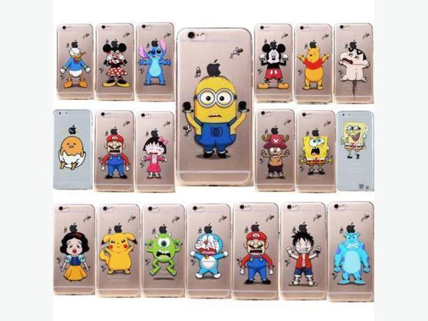 Ultra Thin Transparent Cartoon TPU Case for IPhone 5 5S 5C 6 6S