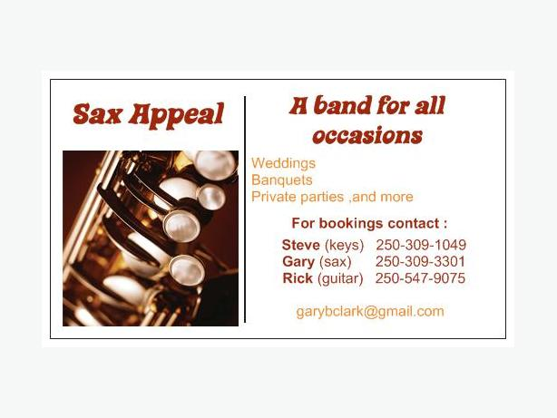""" SAX APPEAL""  band for hire,, Cheaper than a DJ  !!"