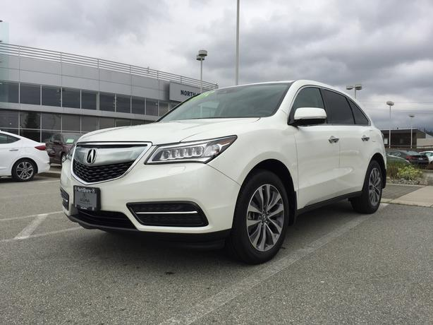2016 white acura mdx navi package 3 000 km very low. Black Bedroom Furniture Sets. Home Design Ideas