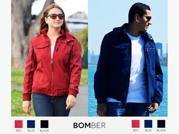 NEW XXL Women's Red Baubax Travel Bomber Jacket (Plus Size)