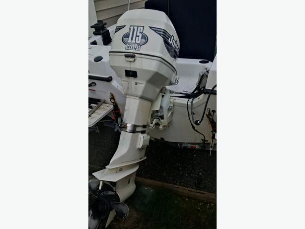 2000 Johnson 115 Ocean Pro Outboard Engine Outside Comox