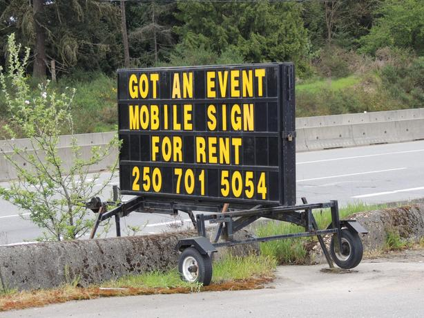 Mobile Sign Will Travel