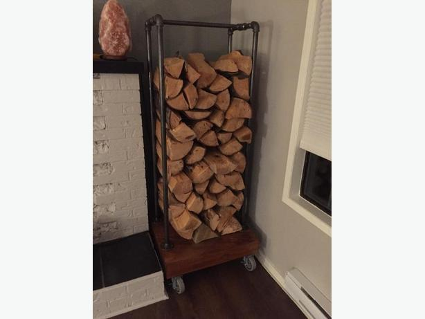 Custom firewood stand for inside.