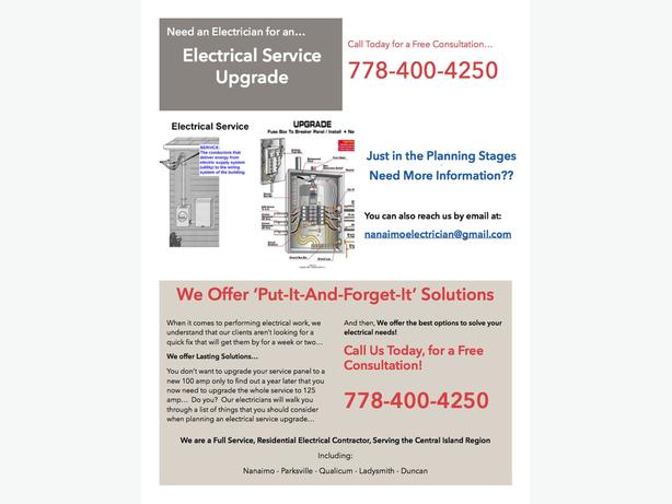 *** Need an Electrical Service Upgrade?  ***