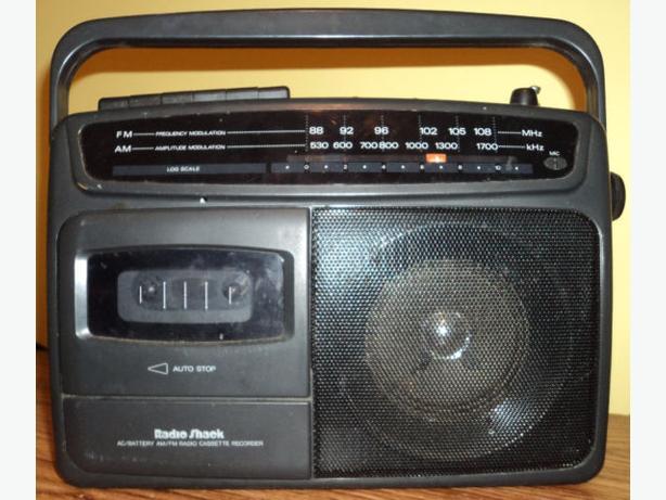 AC/Battery AM/FM Stereo Cassette Recorder
