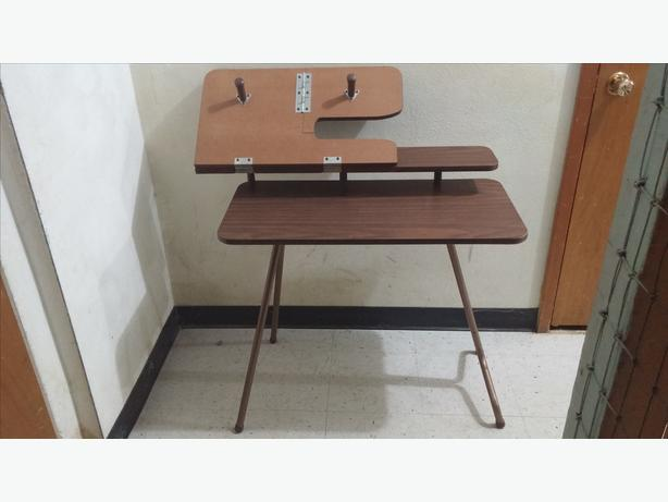Vintage Sewing Table   Sewing Machine Table   Pfaff 297   Wood   Folding