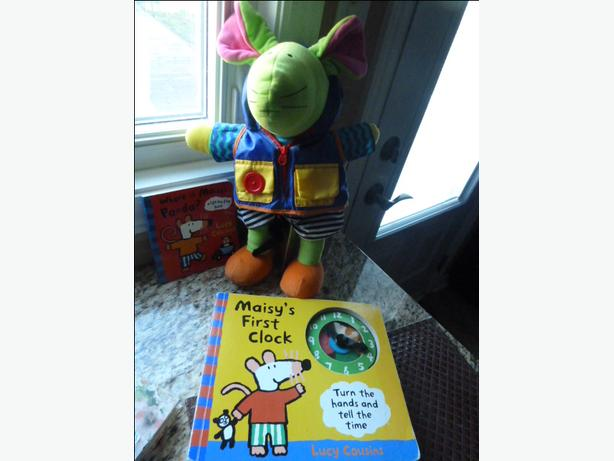 Maisy doll and 2 educational and engaging Maisy books
