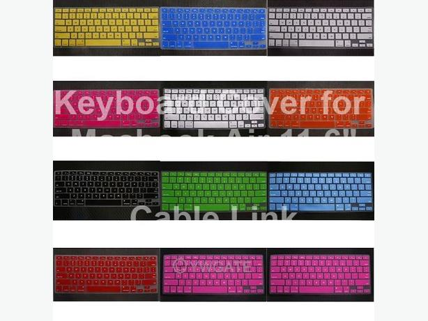 Multi-Color Keyboard Soft Cover Skin For Apple MacBook Air 11""