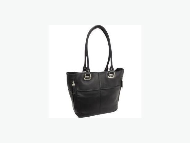 Tignanello Signature Black Pebble Leather Pocket Tote - Like New