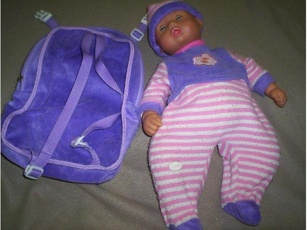 Doll with Back pack