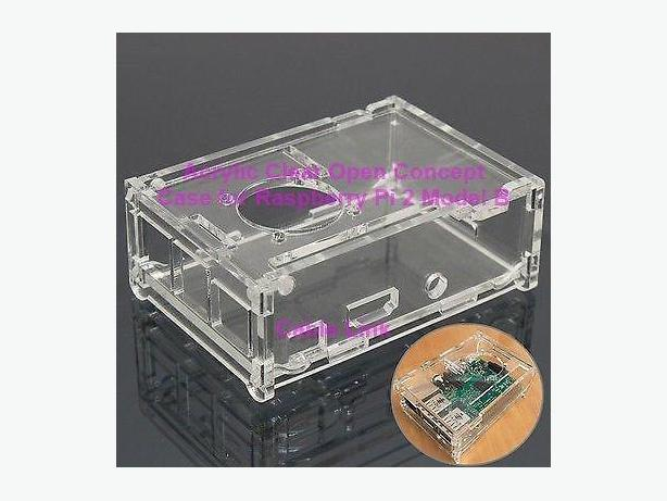 Transparent Acrylic Open Concept Case With Fan Mount Raspberry Pi 2 Pi 3