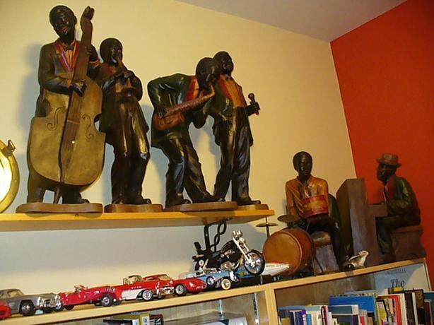 BLACK AMERICANA JAZZ BAND FIGURE FIGURINE DETROIT 1920s-Duncan