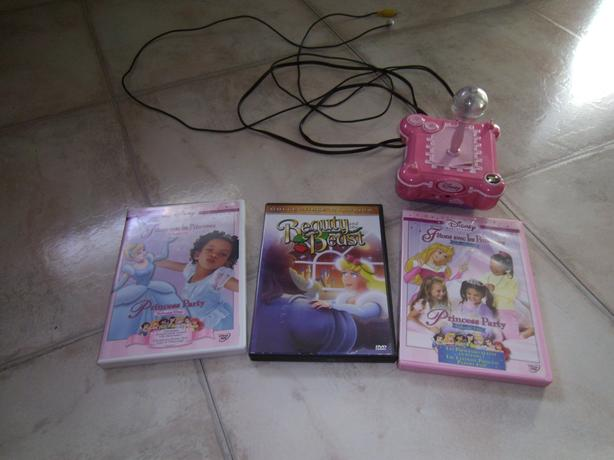 3 Princess Movies with a Plug and Play Game
