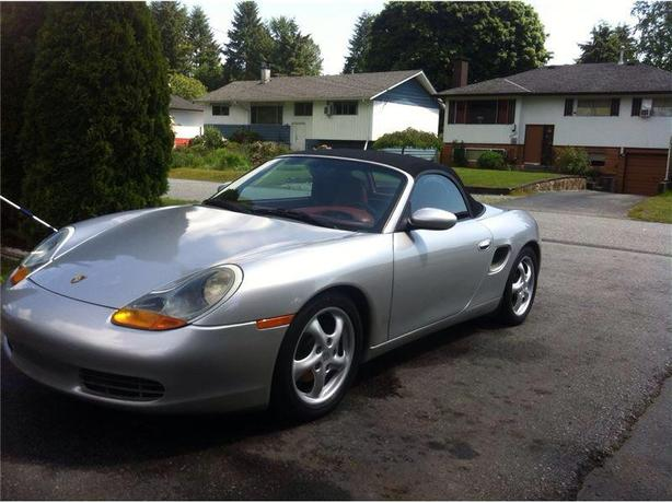 Porsche Boxster Convertible Red Leather Great Deal