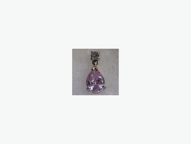 New - Rhodium Topaz Pendant