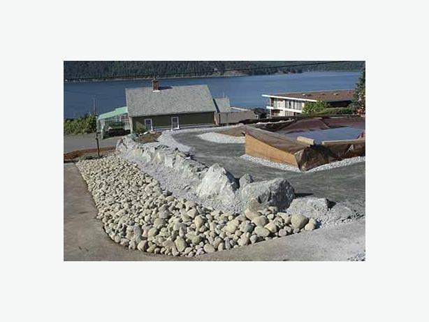 Ponds, driveways, rock walls