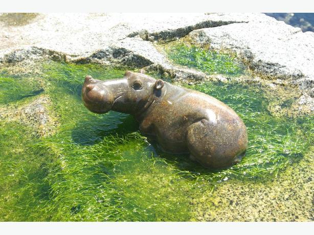 AFRICAN HIPPO SCULPTURE