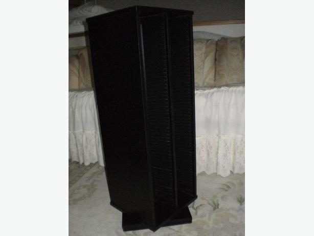 STYLISH WITH MODERN DESIGN ENTERTAINMENT CD'S BLACK ORGANIZER
