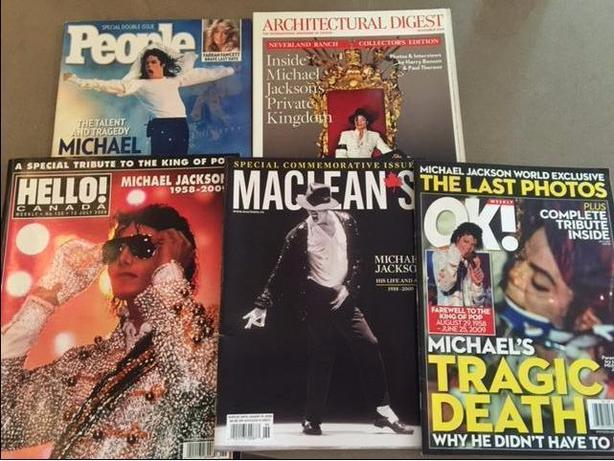 Lot of 5 Michael Jackson Magazines