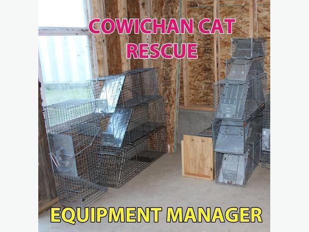 Equipment Manager for Cowichan Cat Rescue