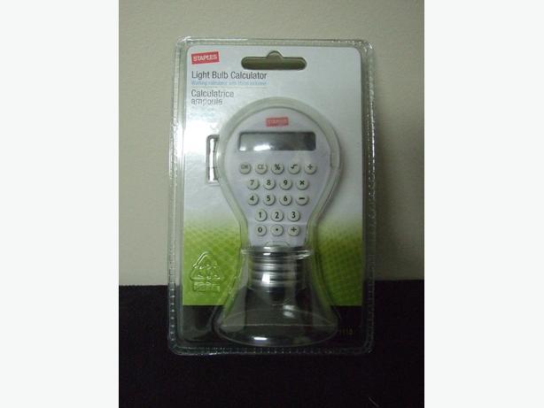 Staples Novelty Light Bulb Calculator