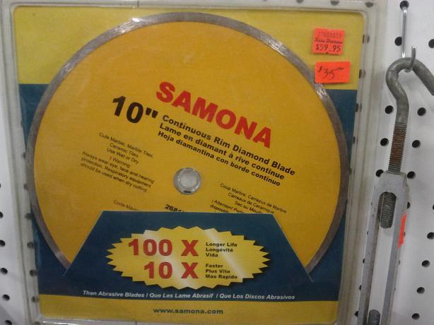 "10"" Contious Rim Diamond Blade"