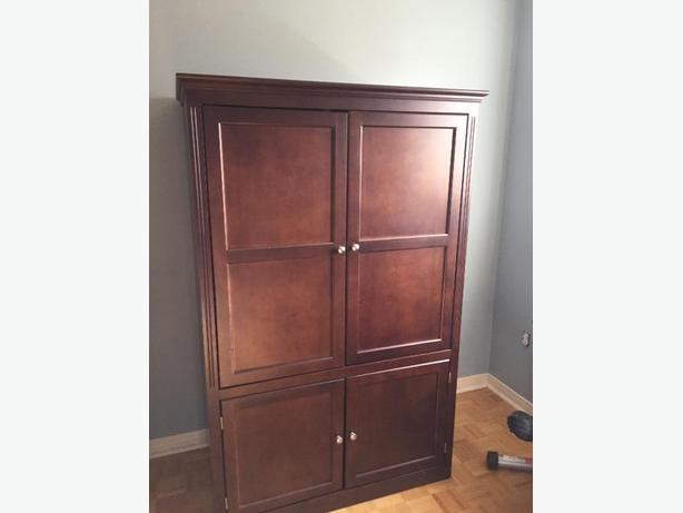 Really nice maple wood audio/video armoire