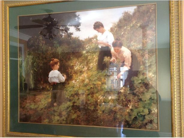 really large print of art framed