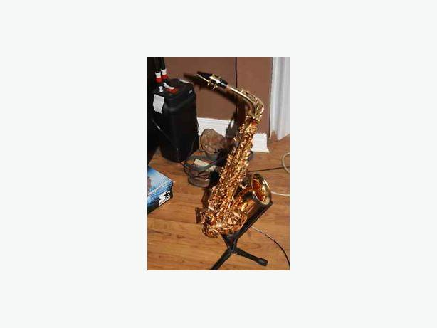 Alto Saxophone with stand